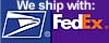 We ship with USPS(R) and FedEx(R)