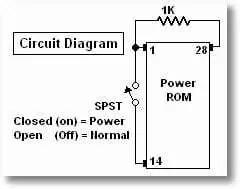 Dual chip circuit diagram