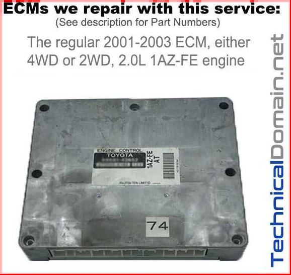 2001-2003 rav4 ecm 1az-fe