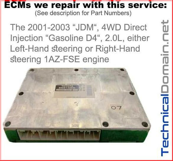 2001-2003 rav4 ecm 1az-fse direct injection