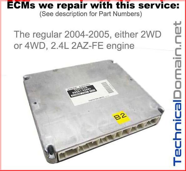 2004-2005 rav4 ecm 2az-fe