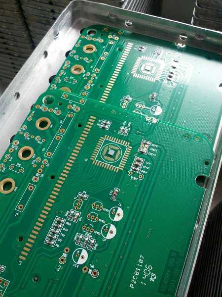 Chip on board already glued to circuit board