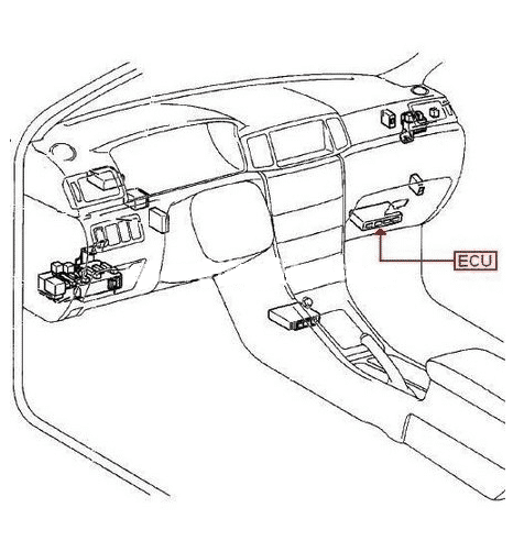 toyota highlander 02 sensor location