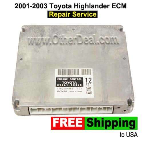 2001-2003 Toyota Highlander ECM Repair