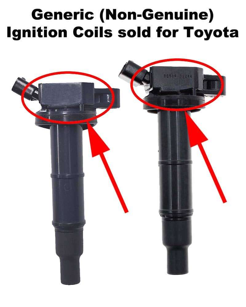 Generic ignition coils sold for Toyota