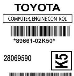 Label 89661-02K50