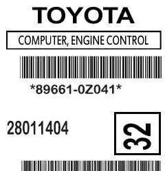 Label 89661-0Z041